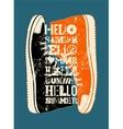 Summer typographic grunge retro poster design vector image