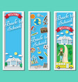 three vertical back to school frames and vector image vector image