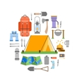 Trip design elements travel icon set vector image