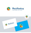 volley ball logotype with business card template vector image vector image