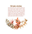watercolor herbs and flowers drawn image vector image