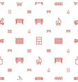 wood icons pattern seamless white background vector image vector image