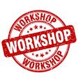 workshop red grunge round vintage rubber stamp vector image vector image