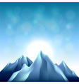 Nature background with mountains vector image