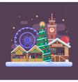 Europe Christmas Fair Background vector image