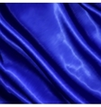Blue fabric satin texture for background vector image