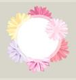 romantic vintage floral bouquet flourish card vector image