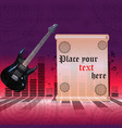 the poster with an electric guitar vector image