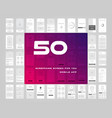 50 in 1 ui kits wireframes screens for your vector image vector image