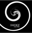 abstract smoke by spiral isolated vector image vector image