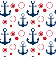 anchors seamless pattern marine vintage ornament vector image