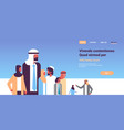 arabic business people group communication concept vector image vector image