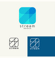 arrow trendy minimalistic template design vector image vector image