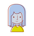 Avatar caricature young beautiful woman vector image