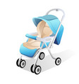 baby carriage 3d vector image vector image
