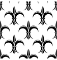 Black and white fleur de lys seamless pattern vector image vector image
