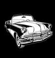 cabriolet 1950-60s retro vintage monogram vector image vector image