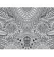 cartoonish hippie ornament - coloring page vector image vector image