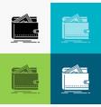cash finance money personal purse icon over vector image vector image