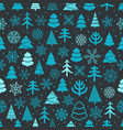 christmas seamless background merry christmas and vector image