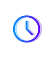 clock blue purple icon time symbol vector image