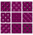 Collection Of Seamless Patterns Halloween vector image vector image