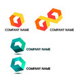 cubic based company logo vector image vector image
