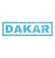 Dakar Rubber Stamp vector image vector image