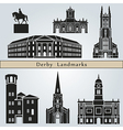Derby landmarks and monuments vector image vector image