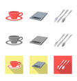 design kitchen and cook sign set of vector image
