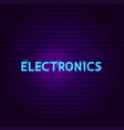 electronics text neon label vector image vector image