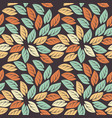 elegant seamless pattern with colorful leaves vector image