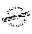Emergency Incident rubber stamp vector image vector image