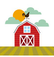 farm barn design vector image vector image