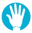 five fingers icon vector image vector image