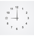 football clock 2 vector image vector image