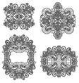 four ornamental floral adornment vector image vector image