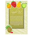fruit text vector image vector image