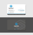gray business card with blue letter s vector image vector image