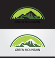 green mountain logo vector image vector image