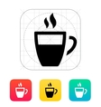 Half coffee cup icon vector image vector image