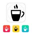 Half coffee cup icon vector image