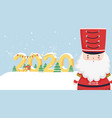 happy new year 2020 celebration nutcracker soldier vector image vector image