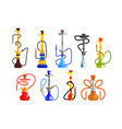 hookah set hookah with pipe for smoking tobacco vector image vector image