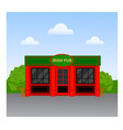 irish pub building vector image vector image