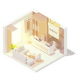isometric office reception vector image