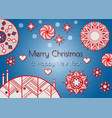 merry christmas greeting card or background vector image vector image