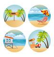 miami beach set scenes vector image vector image