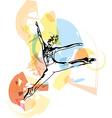 modern ballet dancer man vector image