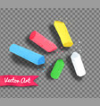 pieces of chalk vector image vector image